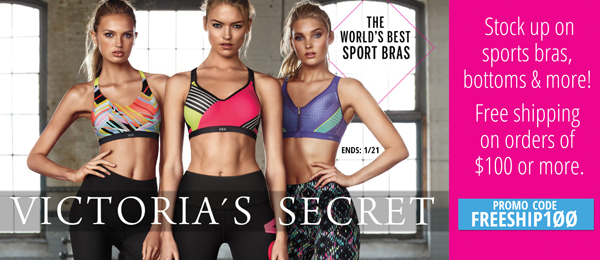 Victorias secrets: Free shipping on $100 order
