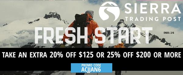 Sierra Start: Take an extra 20% off $125