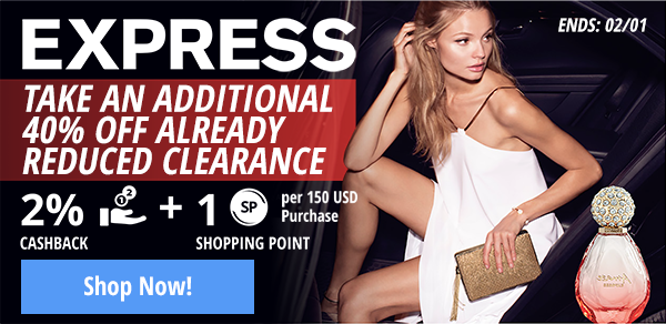 Express: Take an extra 40% off already reduced clearance!