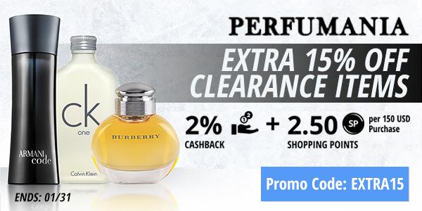 Perfumania : Extra 15% off clearance items