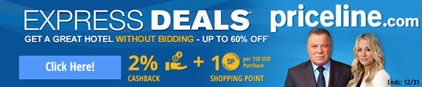 Priceline: up to 60% off