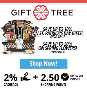 Gift Tree: Save up to 10% on St. Patrick's Day Gifts!