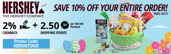 Hersheys: Save 10% off your entire order!