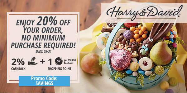 Harry & David: Enjoy 20% off your order, no minimum purchase required!