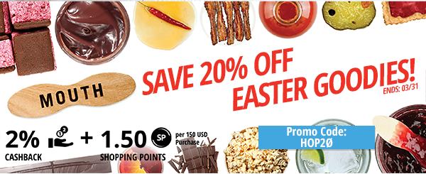 Mouth: Save 20% off Easter Goodies!