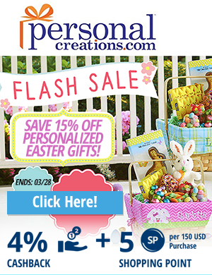Personal Creations: Save 15% off personalized Easter Gifts!