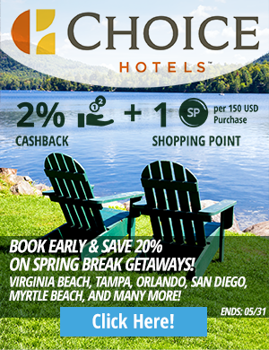 Choice Hotels: Book Early & Save 20% on Spring Break Getaways! Destinations include Virginia Beach, Tampa, Orlando, San Diego, Mrytle Beach, and Many More!