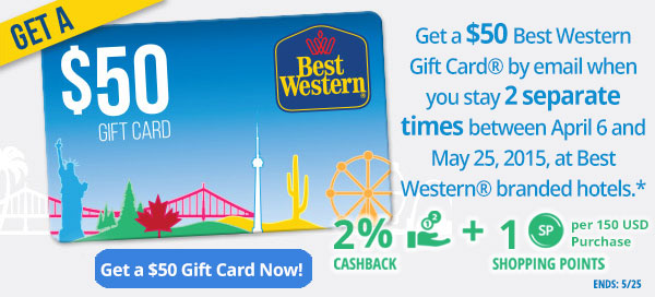 Best Western: Get a $50 Gift Card!
