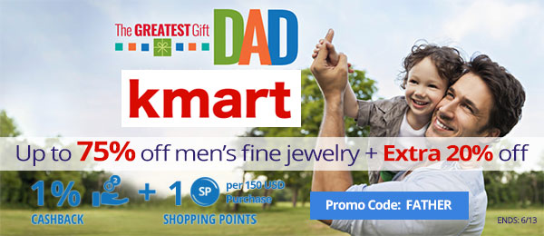 Kmart: Up to 75% off men's fine jewelry + Extra 20% off
