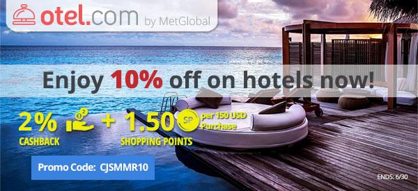 otel.com: Enjoy 10% off on hotels now