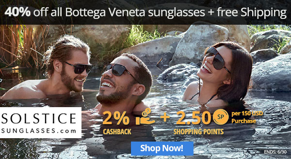 Solstice: Take 40% off all Bottega Veneta sunglasses + free shipping