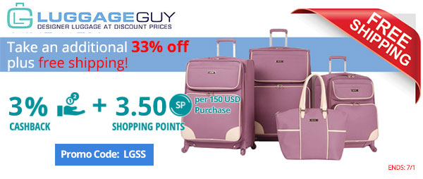 LuggageGuy: Take an additional 33% OFF plus free shipping