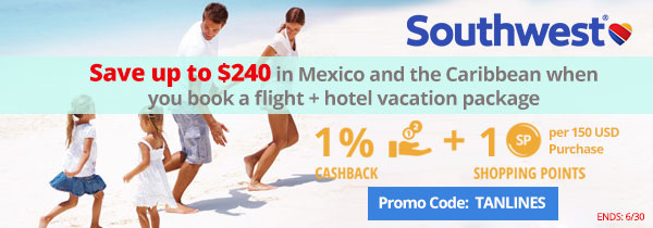 Southwest: Save up to $240 in Mexico and Caribbean