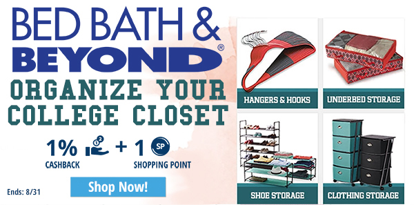 Bed Bath & Beyond:Organize your college closet