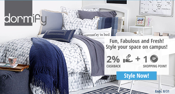 Dormify: Fun, Fabulous and Fresh! Style you space on campus!