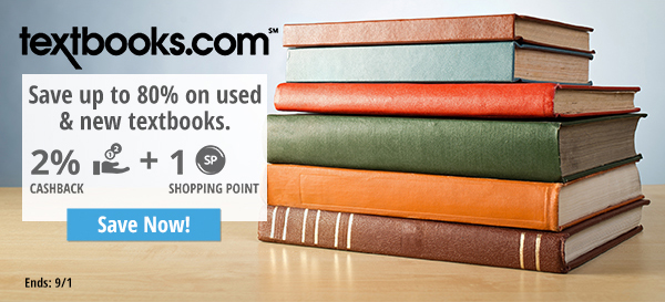 Textbooks: Save up to 80% on used & new textbooks.