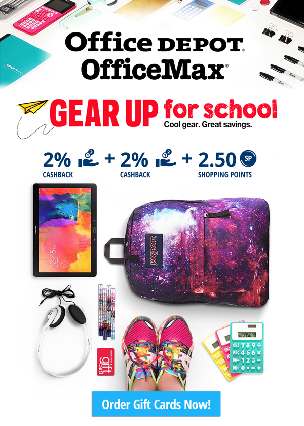 Double Cashback at Office Depot!