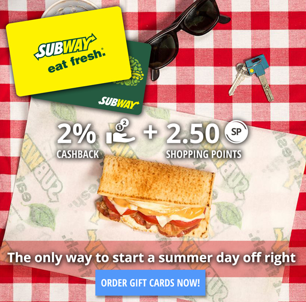 Subway Gift Cards for a Subway Summer