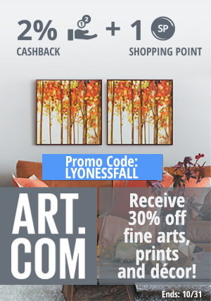 Art.com: Receive 30% off fine arts, prints and décor