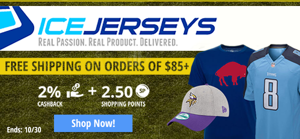 Icejersey: Free shipping on orders of $85+!