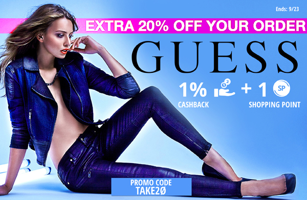 Guess: Get 20% off your order!