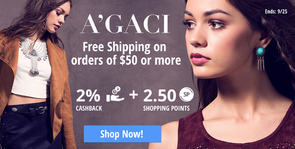 Agaci: Free Shipping on orders of $50 or more