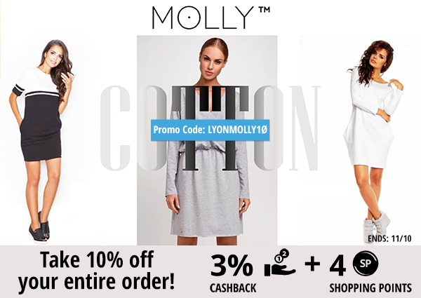 Molly Dress: Take 10% off your entire order!