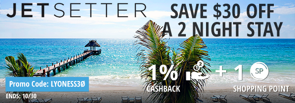 Jetsetter: Save $30 off a 2 night stay