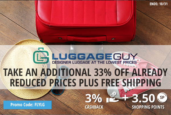 LuggageGuy: Take an additional 33% off already reduced prices plus free shipping