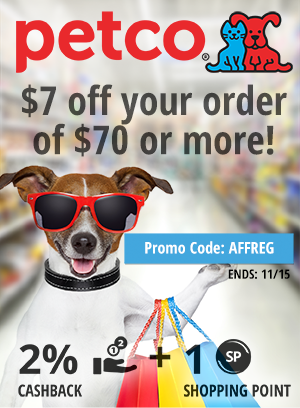 Petco:$7 off your order of $70 or more