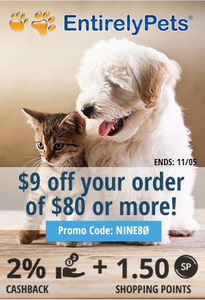 EntirelyPets: $9 off your order of $80 or more