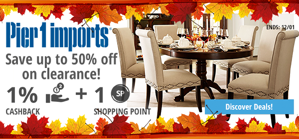 Pier 1 Imports: Save up to 50% off on clearance!