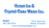 Hemet Ice & Crystal Water